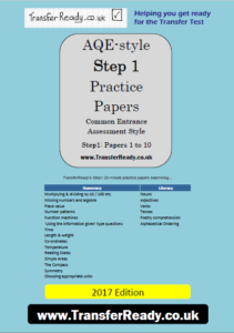 Front Cover of AQE Step1 Practice Papers
