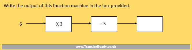 Transfer Test Function Machines Example 1