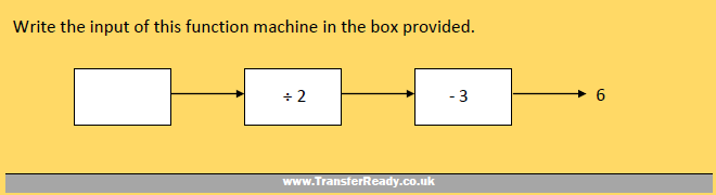 Transfer Test Function Machines Example 2