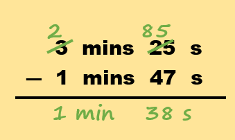 How to subtract time method part 3